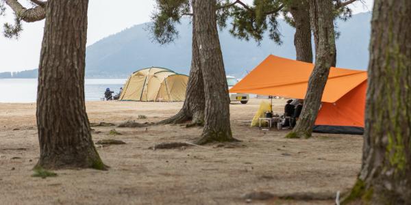 高島のキャンプ場